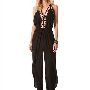 "Indah caged "" gypsy"" jumpsuit size xs"